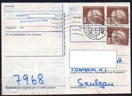 BRD Ab 1.7.1982  Päckchen- Adresse  MiNr.854 (3)  Von Frankenthal ; Schaufelrad - [7] Federal Republic
