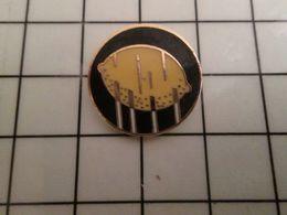 316a Pin's Pins / Rare & Belle Qualité !!! THEME : ALIMENTATION / JOLI CITRON JAUNE SUR FOND NOIR - Alimentation