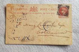 Cartolina Postale East India Quarter Anna Da Shukravar 1890 - India (...-1947)
