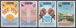 Lesotho 1976 Geschichte History Unabhängigkeit Independence Ketten Chains Wappen Arms Hotels Flugzeuge, Mi. 213-6 ** - Lesotho (1966-...)