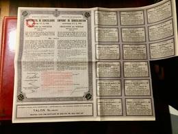 ROYAUME De ROUMANIE EMPRUNT De CONSOLIDATION 4 1/2% 1934 ------Obligation  De 200 Frs - Shareholdings