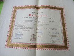 Diplôme Religieux/Enseignement Chrétien/Certificat D'Instruction Primaire Supérieure/Mention BIEN/LILLE/1918    DIP247 - Diploma & School Reports