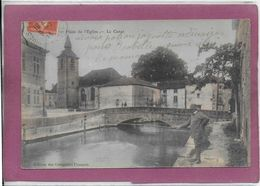 55.- SORCY .- Place De L' Eglise - Le Canal ( Pêcheur ) - France