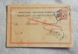 U.P.U. Cartolina Postale Da Berlino Per Roma 1882 - Enteros Postales