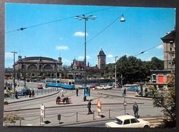 Zürich Central Platz Mit Bahnhof/ Tram/ Oldtimer Autos - ZH Zurich