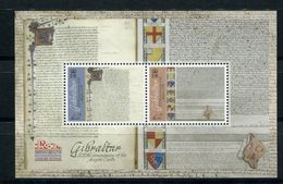 """Gibraltar - Block Nr. 123 - """"800. Jahrestag Erklärung Der Magna Carta"""" ** / MNH (aus Dem Jahr 2015) - Gibraltar"""