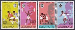 Lesotho 1976 Sport Spiele Olympia Olympics IOC Montreal Boxen Fußball Football Soccer Leichtathletik, Mi. 209-2 ** - Lesotho (1966-...)