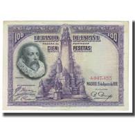 Billet, Espagne, 100 Pesetas, 1928, 1928-08-15, KM:76a, TTB - [ 1] …-1931 : Premiers Billets (Banco De España)