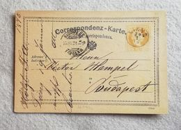 Cartolina Postale Da 2 Kr. Da Lienz Per Budapest 1875 - Interi Postali