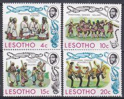 Lesotho 1975 Kultur Culture Tradition Folklore Brauchtum Custom Tanzen Dancing Tanz Tänze Dance, Mi. 191-4 ** - Lesotho (1966-...)