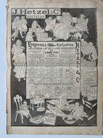 Hetzel éditeur De Jules Verne / Etrennes 1884 / 2 Pub D'époque Du Journal Illustré - Publicités