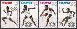 Lesotho 1972 Sport Spiele Olympia Olympics IOC München Munich Leichtathletik Athletics Laufen Weitsprung, Mi. 124-7 ** - Lesotho (1966-...)
