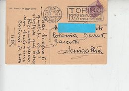 """ITALIA 1928 - Targhetta Pubblicitaria """"TORINO 1928 ESPOSIZIONI..."""" - 1900-44 Vittorio Emanuele III"""