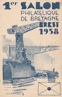 Brest 1er Salon De Bretagne 1938 - Commemorative Labels