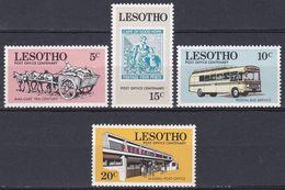 Lesotho 1972 Postgeschichte Postdienst UPU Transport Karren Postbus Autobus Bus Postamt Bauwerke Buildings, Mi. 120-3 ** - Lesotho (1966-...)