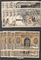 Herne Notgeld: 602.1 Bild 1-10 Zehn Notgeldscheine Der Stadt Herne Bankfrisch 1921 10x 50 Pfennig Herne - [11] Emisiones Locales
