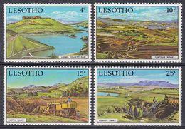 Lesotho 1971 Umweltschutz Environmental Protection Staudamm Reservoir Acker-Terrassen Hochwasser, Mi. 112-5 ** - Lesotho (1966-...)