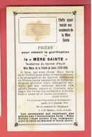 IMAGE RELIGIEUSE RELIQUAIRE DE LA MERE SAINTE FONDATRICE DU CARMEL D AUCH GERS 1570 1656 MARIE DE LA TRINITE DE SEVIN - Religion & Esotérisme