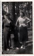 Photo Originale Duo Féminin & Béret Dans La Forêt De Quiberon (56170) En 1936 - Pin-up