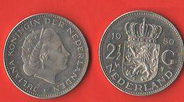 2.5 Gulden 1980 Juliana Olanda Nederland Holland Pays-Bas - 1948-1980 : Juliana