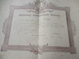 Diplôme Religieux/Enseignement Chrétien/Certificat D'Instruction Primaire /St Benoit D'Hébertot/ TROUVILLE/1919   DIP255 - Diploma & School Reports