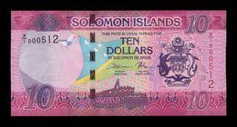 Islas Salomon Solomon 10 Dollars 2017 Pick 33r Replacement Low Serial SC UNC - Salomons