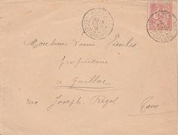 Yvert 125 Mouchon Lettre Cachet AGEN GARE Lot Et Garonne 5/8/1903 Pour Gaillac Tarn - Postmark Collection (Covers)