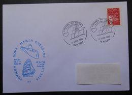 084  Sous Marin Ouessant Armada Du Siècle Rouen Le Havre Cachet Rouen 14 Juillet 1999 - Marcophilie (Lettres)