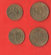 1 + 5 Markkaa Suomi Finland Finlandia 1972 - 1993 - Finnland