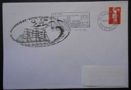 097  Voilier Dak Mlodziezy  Gdynia Poland  Flamme Saint Malo 35 - Postmark Collection (Covers)