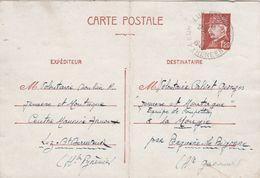 Entier Postal Expéditeur Volontaire Jeunesse Et Montagne LUZ ST SAUVEUR Hautes Pyrénées 10/2/1943 à Volontaire La Mongie - Marcophilie (Lettres)