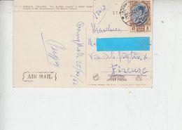 TAILANDIA  1962 - Cartolina Per Italia - Yvert 343 - Tailandia