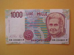 1000 LIRE  MONTESSORI  - Banconota Fior Di Stampa - 1000 Lire