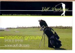 Dunkerque Téteghem Coudekerque Village Golf  (invitation Avec Explications Des Tarifs Au Dos, Pas Une Carte Postale - Golf