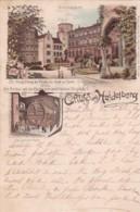 251525Gruss Aus Heidelberg, Schlosshof – Das Grosse Fass.  (Poststempel 1893) - Heidelberg