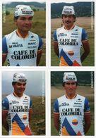 Cyclisme, Serie Café De Colombia 1986, 13 Cartes - Cyclisme