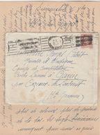 Lettre De TOULOUSE 6/12/1942 à Volontaire Jeunesse Et Montagne à Garin Par Cazeaux De Larboust Haute Garonne - Marcophilie (Lettres)