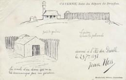 3006      15           Dreyfus, Carte Dessiné à L'Ile Du Diable Par Jean Hess 1898. Éditeur Meulenhoff Amsterdam. - Evènements
