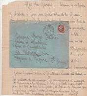 Lettre LES CABANNES Ariège 11/2/1943 à Volontaire Jeunesse Et Montagne à La Mongie Bagnères De Bigorre Hautes Pyrénées - Marcophilie (Lettres)