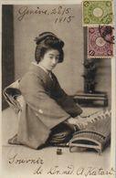 CPA. - JAPON - Femme Japonaise à Genoux ? Daté 28.5.1915  - TBE - Other