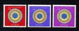 Libye ** N° 410 à 412 - 25e Ann. De L'Union Postale Arabe - Libya