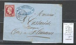 France - Yvert 17a - Napoléon 80 Cts - 1858 - Mirande - Gers - 1849-1876: Periodo Clásico