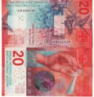 SWITZERLAND  Newer Date  20 Francs  (issued 2020)  Dated 2016    Pnew   UNC - Svizzera