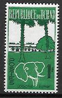T C H A D   -    1961 / 62.    Y&T N° 67  **.   Animaux Stylisés   /   éléphant. - Chad (1960-...)