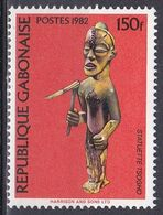 Gabun Gabon 1982 Kunst Arts Kultur Culture Tsogho-Statuette Figurines Statuen Kunsthandwerk Handicrafts, Mi. 843 ** - Gabon (1960-...)