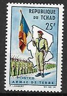 T C H A D   -    1964.      Y&T N° 103 *  .   Armée De Terre   /  Drapeau - Chad (1960-...)
