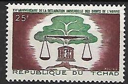 T C H A  D   -    1963.    Y&T N° 93 *.    Droits De L'  Homme   /  Unesco - Chad (1960-...)