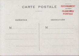 Entier Carte Postale Du Rapatriement En Franchise Utilisé Dans Le Régime Intérieur - Libération