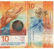 SWITZERLAND  New Design 10  Francs  (issued  10/17   Dated 2016 )   UNC - Svizzera