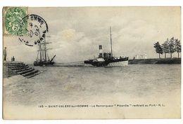"""SAINT-VALERY-sur-SOMME (80) Le Remorqueur """"Picardie"""" Rentrant Au Port. R.L. 109, Envoi 1907 - Saint Valery Sur Somme"""